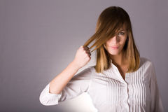 Strong hair concept Royalty Free Stock Photos