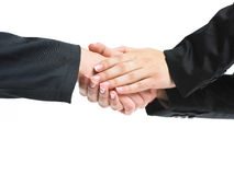 Strong Handshaking Stock Image