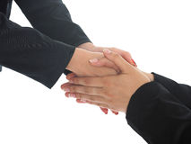 Strong Handshaking Stock Photo