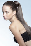 Strong healthy hair Stock Images