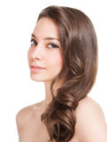 Strong healthy hair. Royalty Free Stock Images