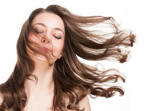 Strong healthy hair. Royalty Free Stock Photography