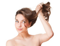 Strong healthy hair. Stock Images
