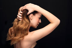 Strong healthy hair. Royalty Free Stock Image