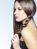 Strong healthy hair Royalty Free Stock Photo
