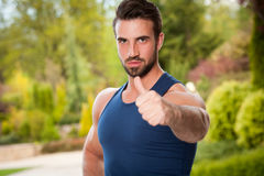 Strong and healthy. Royalty Free Stock Image