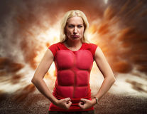 Strong healthy woman Stock Photography
