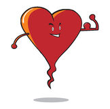Strong heart. Illustration of a healthy strong heart. Editable  file .ai8 Stock Photos