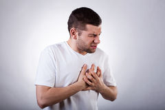 Strong heart attack Stock Image