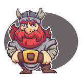 Strong hero, vector image of fantasy dwarf Royalty Free Stock Photography