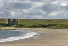 Strong house or castle at Freswick Bay, Scotland.