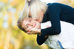Strong kiss to cheek Royalty Free Stock Images