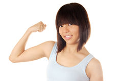 Strong lady Stock Image