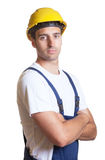 Strong latin construction worker Stock Photography