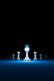 The strong leader. Prompt career big success.Vertical of autho. Prompt career. Horizontal chess composition. Standing Out from the Crowd. Available in high Royalty Free Stock Photography