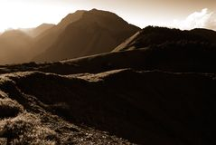 Strong light high mountain landscape stock images