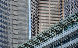 Strong Lines of Downtown Buildings Create Abstract Art Royalty Free Stock Photography