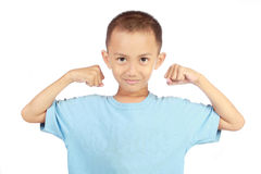 Strong little boy Royalty Free Stock Photography