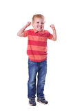 Strong little boy portrait Stock Images