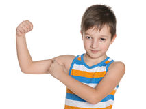 Strong little boy Stock Image