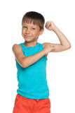 Strong little boy Stock Photo