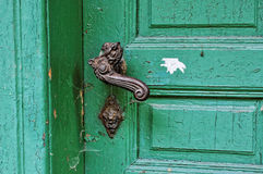 Strong lock in the door stock images