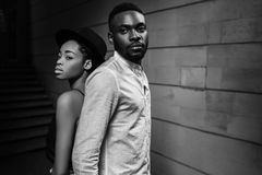 Strong love connection. African American couple. Young fashionab. Portrait of a beautiful African American couple stock photo