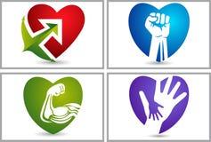 Strong love set collection logos Stock Photos