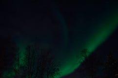 Strong majestic aurora borealis, northern light on sky Stock Image