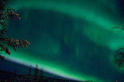 Strong majestic aurora borealis, northern light Stock Images