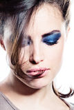 Strong make up Royalty Free Stock Photo