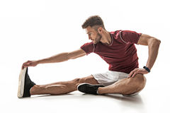 Strong male athlete training his body Royalty Free Stock Photos