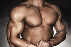 Strong male bodybuilder Stock Photography