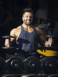 A strong male bodybuilder Stock Photography