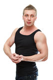 Strong male posing Stock Photography
