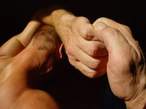 Strong man. Man with strong hands Stock Images