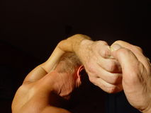 Strong man. Man with strong hands Royalty Free Stock Photo