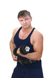 Strong man with barbell Royalty Free Stock Photos