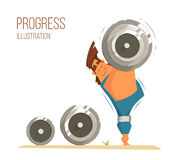 Strong man bodybuilder vector illustration