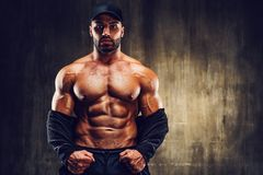 Strong man bodybuilder stock images