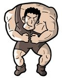 Strong man. Creative design of strong man Royalty Free Stock Photography