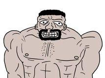 Strong man. Creative design of strong man Stock Image