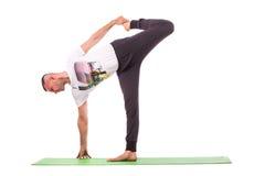 Strong man doing yoga Stock Photos