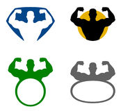Strong man emblem Royalty Free Stock Image