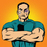 Strong man after a fight Royalty Free Stock Photography