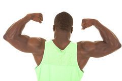 Strong man flex back Stock Image