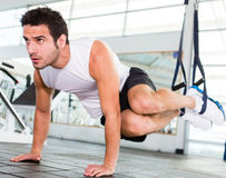 Strong man at the gym Royalty Free Stock Photography