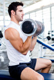 Strong man at the gym Stock Photography