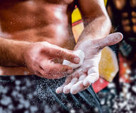 The strong man in the gym Royalty Free Stock Images