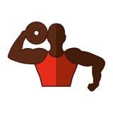 Strong man human figure Stock Photography